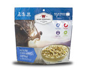 WISE FOOD OUTDOOR COMIDA PREPARADA 1 PACK APPLE CINNAMON CEREAL
